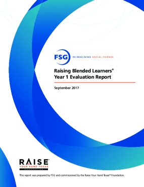 Raising Blended Learners Year 1 Evaluation Report
